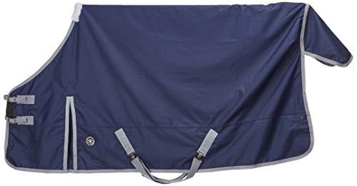 PFIFF 101671 Pferde Ganzjahres Decke, Weidedecke Pferdedecke Regendecke, Blau 125 cm