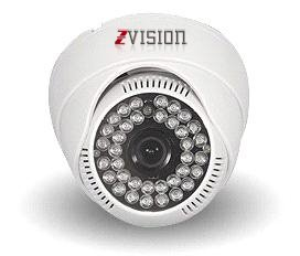 Zvision 1000 Tvl Hdis Analog 36 Ir Dome Night Vision 3.6mm Security Cctv Camera