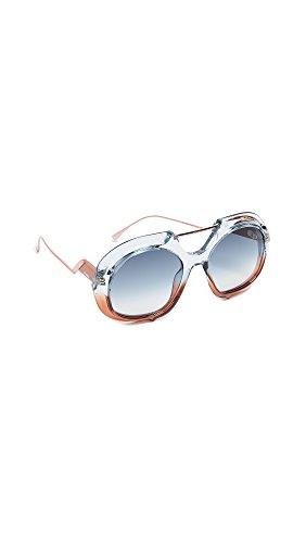 Fendi Sonnenbrillen TROPICAL SHINE FF 0316/S BLUE BROWN/GREY BLUE SHADED Damenbrillen
