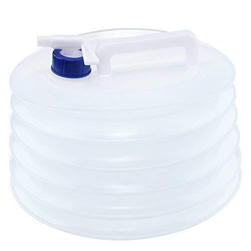Colosun, 5l, faltbar, tragbar, Camping-Wasserkanister mit Hahn, BPA-frei, ungiftig, Krug, Kunststoff, für Wohnwagen/Camping/Reise activiteis, durchsichtig, 5 l