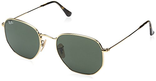 Ray-Ban Herren Sonnenbrille Rb 3548n Gold/Green, 54