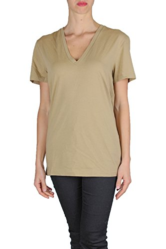 CLOSED T-SHIRT DONNA C85407 maniche corte scollo a v CAMMELLO S