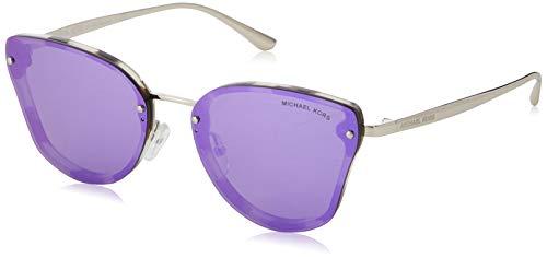 Michael Kors Damen 0MK2068 Sonnenbrille, Snow Leapoard Tort/Violetmirror, 58