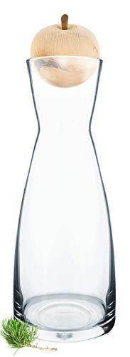 Gesundheitskissen.at Zirbelino® Original ZirbenApfel mit PEFC-Zertifizierung   7cm-Verschluss aus zertifiziertem Zirbenholz inkl. Zirben-Wasserkaraffe Ypsilon (1 Liter) …