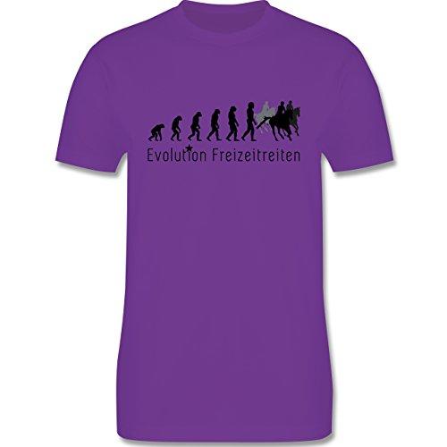 Evolution - Freizeitreiten Ausreiten Reiten Evolution - Herren Premium T-Shirt Lila