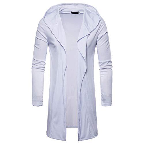 Herren Jacken, modisch, mit Kapuze, Trenchcoat Jacke, lange Ärmel, Outwear Bluse -