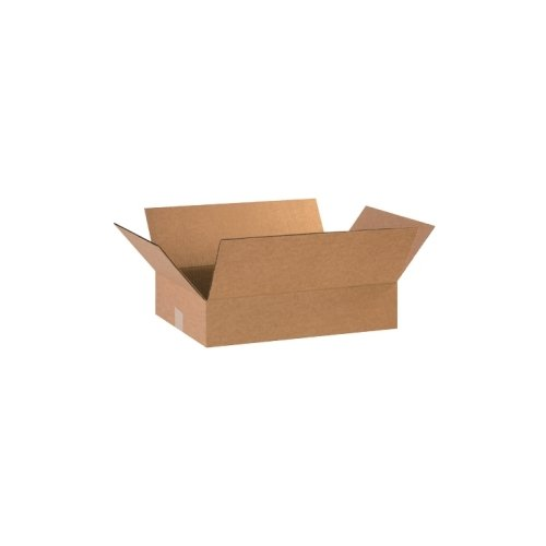 Box Partner flach Boxen aus Wellpappe, 45,7x 30,5x 10,2cm–25-Pro Bundle