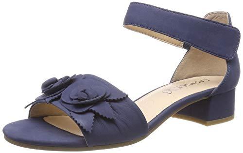 f76921f7fff Caprice Carla, Sandalia con Pulsera para Mujer, Azul (Navy Nubuc 810),