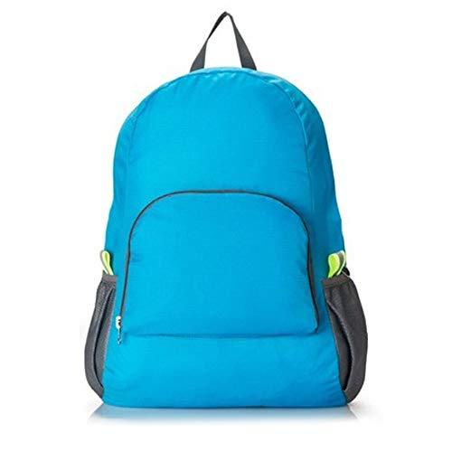 b403cfdb8a8a PETUNIA Hiking Bag Rucksack Lightweight Foldable Waterproof Nylon Backpack  Travel - Blue