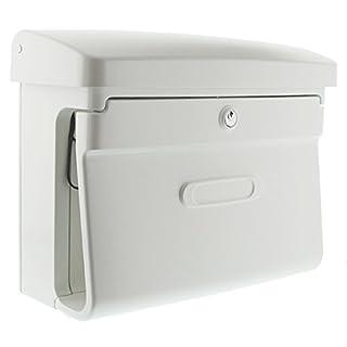 BURG-WÄCHTER, Briefkasten in Matt-Optik, A4 Einwurf-Format, Kunststoff, Bremen 885 W, Weiß