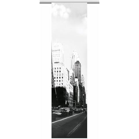 Albani Panel japonés New York, listo para instalar, Blanco-Gris, 245 x 60 cm, 253399