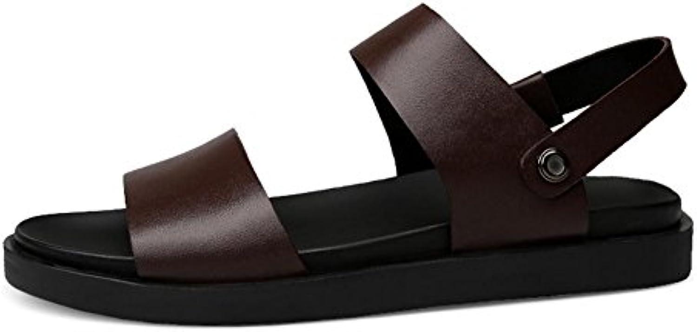 Einfache Ledersandalen Mode und Bequeme Hochwertige Rohstoffe Herren Sommer Waten SchuheEinfache Ledersandalen Bequeme Hochwertige Rohstoffe