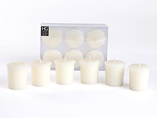 Hosley Unscented Votive Candles (Set of 6)