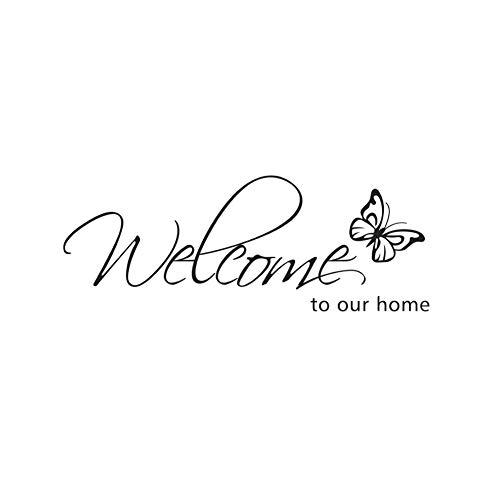 Newin Star Bienvenidos a Nuestra casa de la Mariposa Etiqueta de la Pared desprendibles de la Pared Pegatinas murales DIY Decoraciones de la decoración del Arte de la Mariposa Pegatinas de Pared
