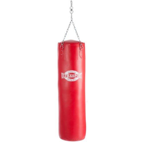 Ultrasport Boxsack 125 cm Kunstleder rot - gefüllt inkl. 4-Punkt Aufhängung Preisvergleich