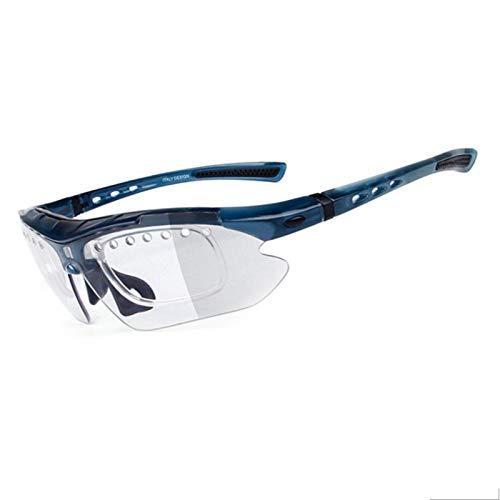 Coniea Nachtsichtbrille für Brillenträger PC Polarisationsbrille Jugendliche Outdoorbrille Blau