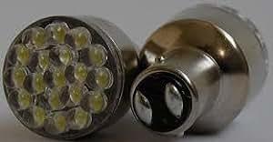 2 X RED LED CAR TAIL STOP BRAKE REAR LIGHT BULBS DUAL FILAMENT NEW