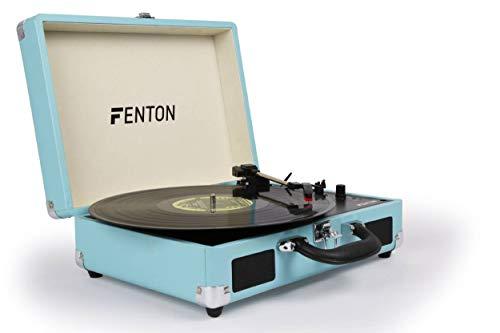 Platine Vinyle Fenton RP115 • Sortie RCA, entrée jack 3,5 mm et alimentation USB • 3 vitesses pour disques 33, 45 et 78 tours, avec adaptateur • Logiciel et câble USB pour numériser vos vinyles inclus
