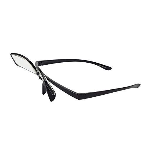 Brille Männer und Frauen klappen faltende Lesung, HD verschleißfestes Harz Anti-Blau Anti-Ermüdungs-Lesung, Nah- und Fern-Dual-Use-PC-Vollformat für ältere Menschen
