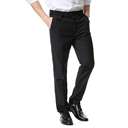 Dragon868 Pantalone Uomo Pantaloni Uomo Elegante Dritto Business Casuale per Ufficio Taglie Forti 6XL