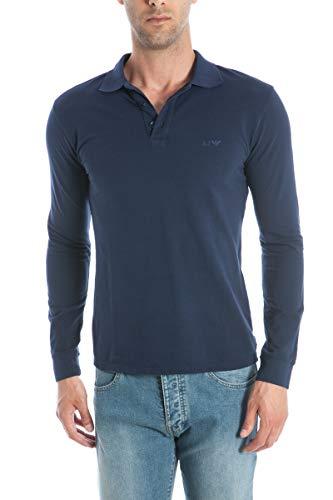 Armani Jeans polo da uomo colore blu Blu L