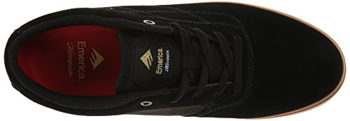 Emerica The Herman G6 Vulc, Chaussures de skateboard homme Black/gum