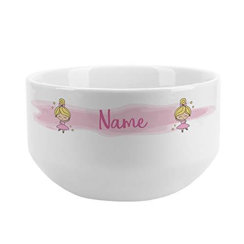 chale für Kinder mit schönem Motiv für Mädchen personalisiert aus Keramik Ballerina ()