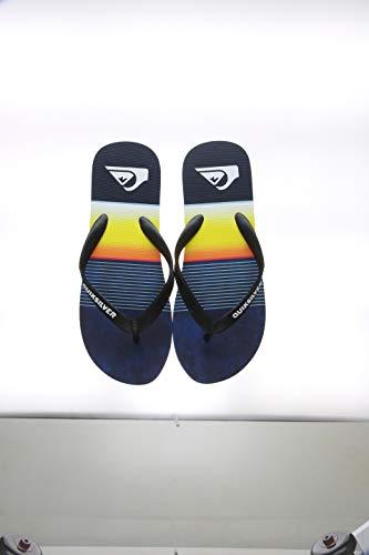 Quiksilver Molokai Slab-Sandals for Men, Scarpe da Spiaggia e Piscina Uomo, Blu Blue/Black Xkbk, 47 EU