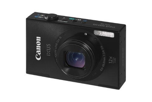 Canon IXUS 500 HS Digitalkamera (10,1 MP, 12-fach opt. Zoom, 7,5cm (3 Zoll) Display, bildstabilisiert) schwarz 10,1 Mp Cmos-sensor