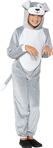 SMIFFY 'S 49729s Hund Kostüm, grau, S–UK Alter 4–6Jahre