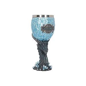 Nemesis Now Viserion - Copa para caminante (18,5 cm), color azul, resina con inserto de acero inoxidable 4