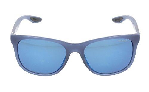 Prada Sport Herren PS 03OS 03OS Wayfarer Sonnenbrille, JAP9P1, Avio Demi Shiny, Blue - Sport Prada Brillen