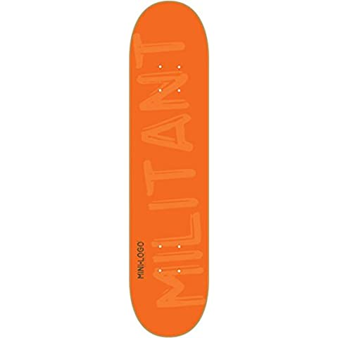Mini Logo Skateboard Deck 127/K-12 - 8.0 Orange by Mini-Logo