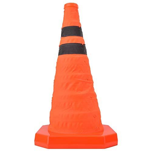 Sicherheitskegel, zusammenklappbarer Verkehrskegel mit Reflexstreifen, Mehrzweck Popup Sicherheitskegel für Einfahrt, Parkplätze (17,7 inch) (Kleine Safety Cones)