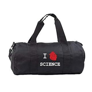 Hippowarehouse I heart science Gymwear Gym Duffle Cylinder Uniform Kit Bag 50 x 25 x 25cm 20 litres