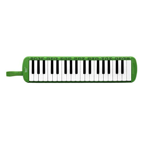 perfeclan 37 Tasten Melodica mit Koffer, 32 Schlüssel Klavier Melodica Holzblasinstrument Zubehör - Grün