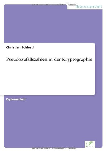 Pseudozufallszahlen in der Kryptographie