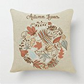 JSBStore Autumn Leaves Pillow Case Cushion Cover Home Sofa Decorative 18 X 18 Squares Gift Choice