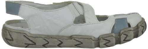 Rieker Hertha, Chaussures basses femme Blanc (Weiss/Whitetuerkis)