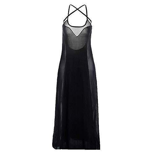 Your global store Plus-Size Sexy Dessous Frauen Rückenfreies Kleid Und Durchsichtiges Neckholder-Kleid Geburtstag Urlaub Geschenk (Plus Größe Sexy School Girl Kostüm)
