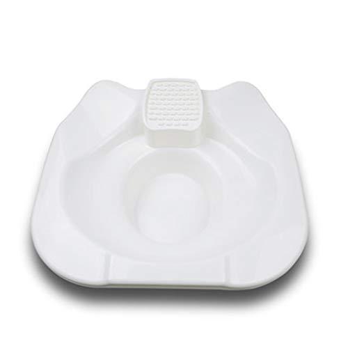 GXLO Tragbares Bidet mit großem Durchmesser Sitzbad, Eine einfache, tragbare Intimhygienelösung für Männer und Frauen,White,Package1