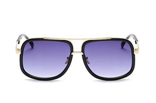 ZJWZ europäische und AmerikaNische Persönlichkeit mit dem gleichen Absatz Mode Sonnenbrillen Männer und Frauen Retro-Sonnenbrille,NO2