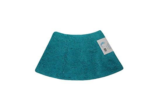 Cazsplash Viertelkreis Mini gebogen Dusche Matte, Baumwolle, Blaugrün, 42x 26x 5cm (Matte Boden Dusche Gebogene)