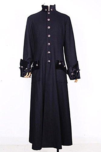 Longue veste noire gothique M090713 Noir