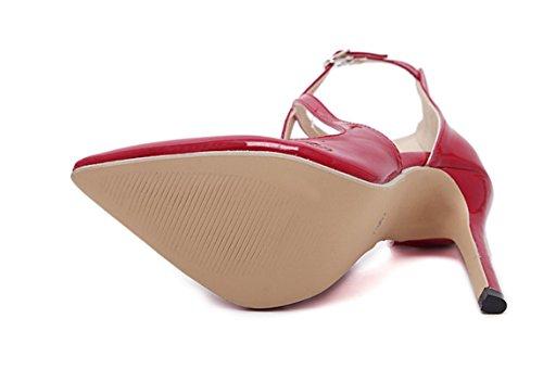 YCMDM FEMME Sandales à talons hauts Printemps été 2017 Europe et les États-Unis Classiques modèles populaires Chaussures pointues Red