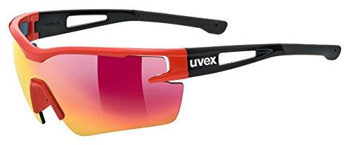 Uvex Erwachsene sportstyle 116 Sportbrille, red-black, One size