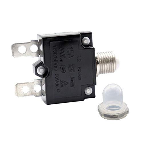 Homyl Fusible Disyuntor Interruptor Reinicio de Sobrecarga AC 125/250V (10A / 15A...