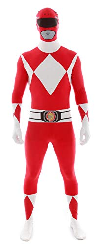 KULTFAKTOR GmbH Power Rangers Morphsuit Lizenzware rot-Weiss L (bis zu 1,80 m)