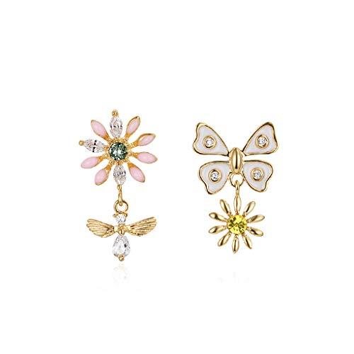 Lan chen orecchini a forma di piccola farfalla orecchini a forma di fiore femminile orecchini temperamento corea semplice personalità orecchini freschi orecchini ape fiore girasole