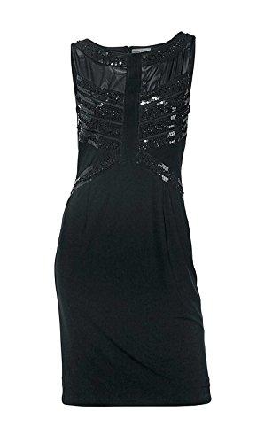 Ashley Brooke Damen-Kleid Kleid mit Pailletten Schwarz Größe 46